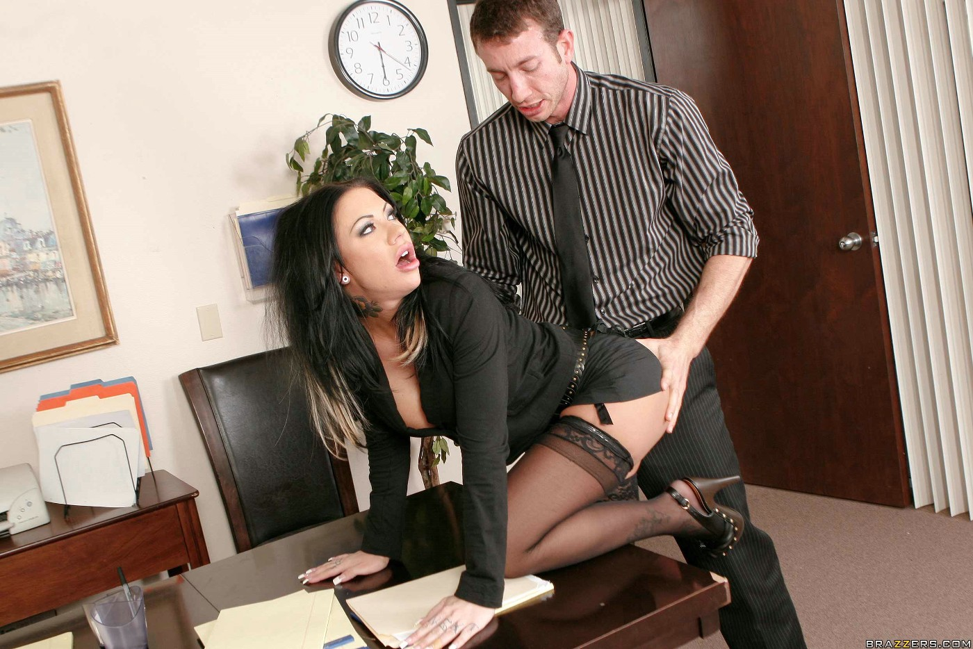 Leggy blonde gets pounded by stud wearing her high boots 10