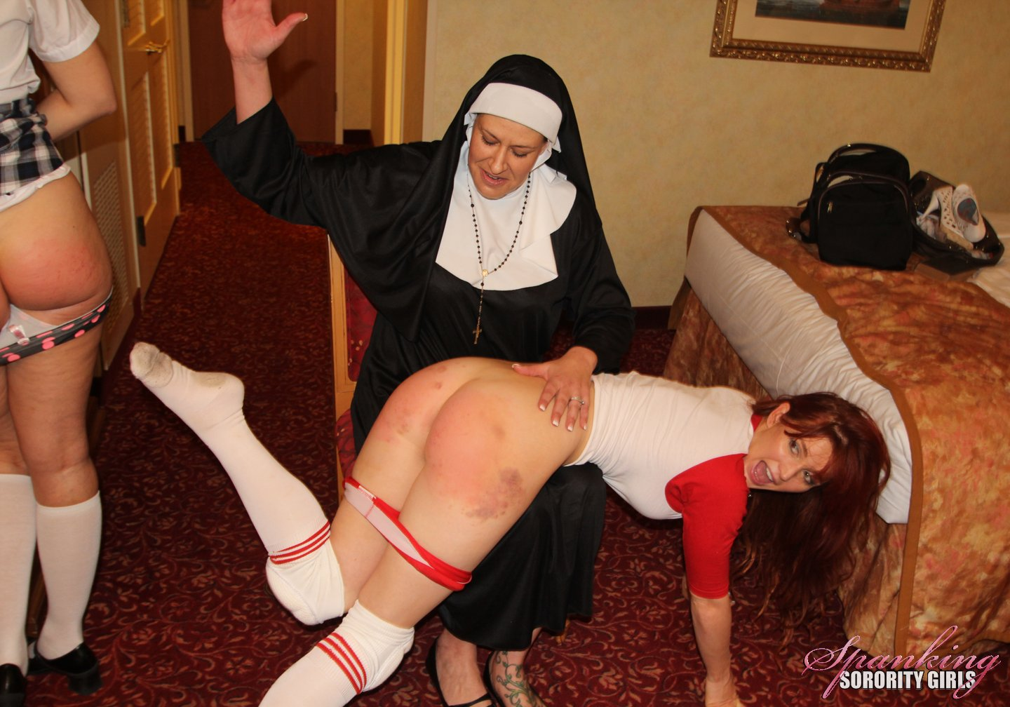 Spanked by nun